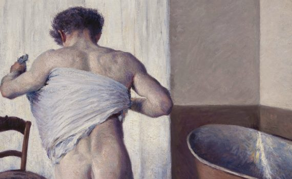 Gustave Caillebotte, Man at his Bath - detail