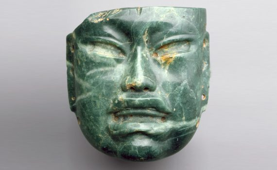 Olmec mask at The Metropolitan Museum of Art