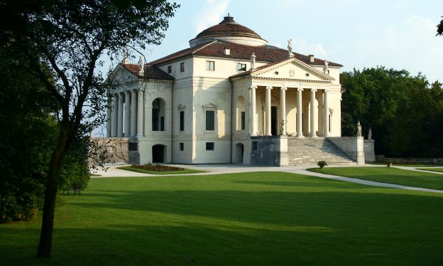 Andrea Palladio with modifications by Vicenzo Scamozzi, Villa Rotonda (formerly Villa Capra), 1566-1590s, near Vicenza, Italy