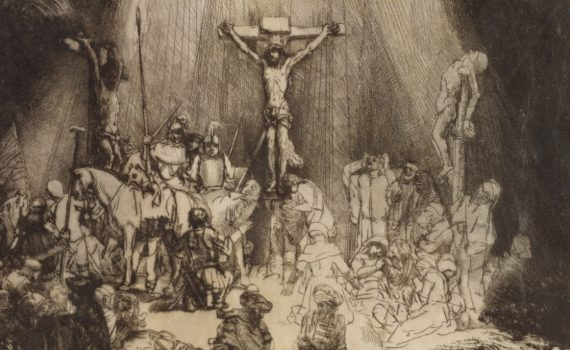 Rembrandt van Rijn, Christ Crucified between the Two Thieves, detail