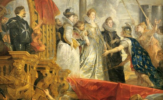 Peter Paul Rubens, Arrival (or Disembarkation) of Marie de Medici at Marseilles-detail