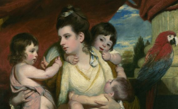 Sir Joshua Reynolds, Lady Cockburn and Her Three Eldest Sons, 1773, oil on canvas, 55-3/4 x 44-1/2 inches (141.5 x 113 cm) (National Gallery, London) -thumb