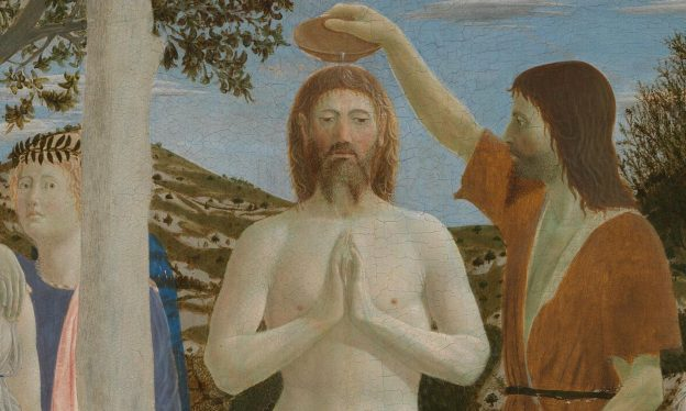 Piero della Francesca, The Baptism of Christ, after 1437 (National Gallery, London)