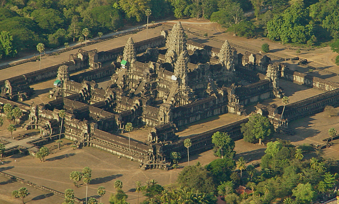 Aerial view, Angkor Wat, Siem Reap, Cambodia, 1116-1150 (photo: Peter Garnhum, CC BY-NC 2.0)