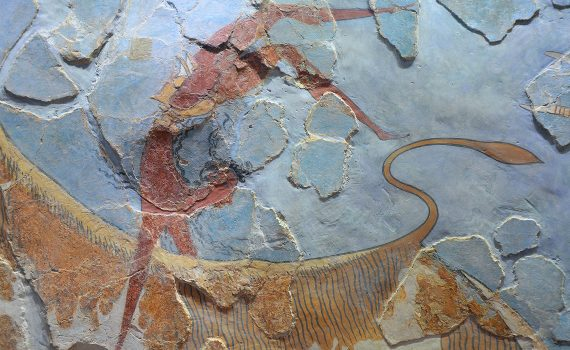 Bull-leaping fresco from the palace of Knossos