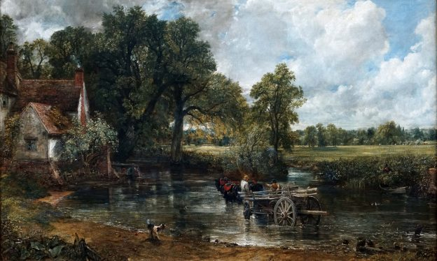 John Constable, The Hay Wain (Landscape: Noon), 1821, oil on canvas, 130.2 x 185.4 cm (The National Gallery, London).