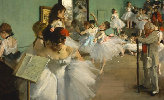 Edgar Degas, The Dance Class, detail