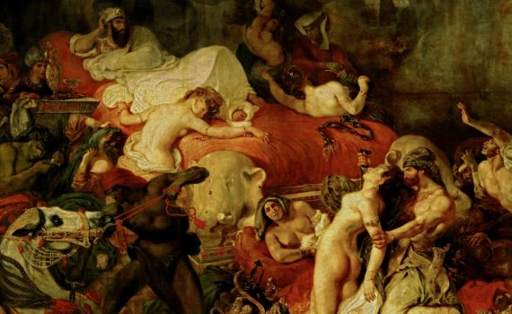 Eugène Delacroix, The Death of Sardanapalus - detail