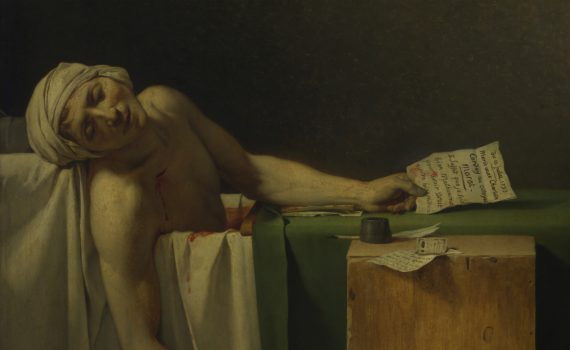 Jacques-Louis David, Death of Marat - detail