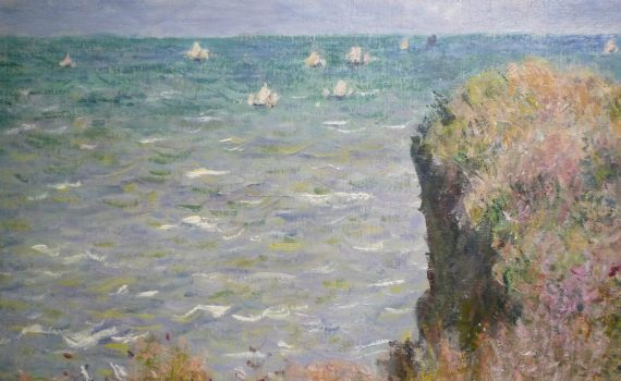 Claude Monet, Cliff Walk at Pourville, 1882, detail