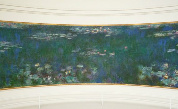 Claude Monet, Les Nymphéas (The Water Lilies), suite of paintings on permanent exhibition at the Musée de l'Orangerie in Paris - detail