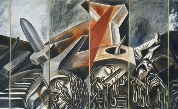 José Clemente Orozco, Dive Bomber and Tank, 1940