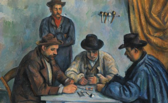 Paul Cézanne, The Card Players- detail
