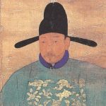Portrait of Sin Sukju, second half of the 15th century, hanging scroll, ink and color on silk, 167 x 109.5 cm, Goryeong Sin Family Collection, Cheongwon, Treasure no. 613.