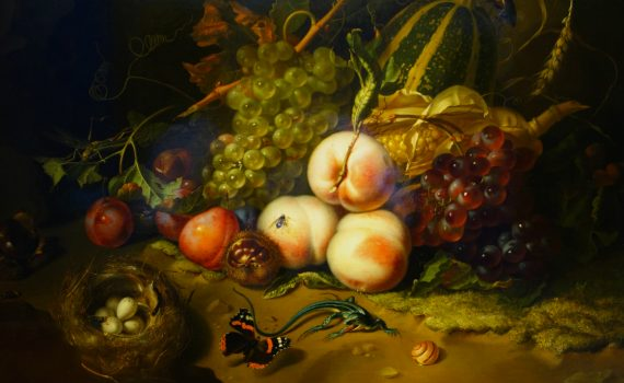 Rachel Ruysch, Fruit and Insects, detail