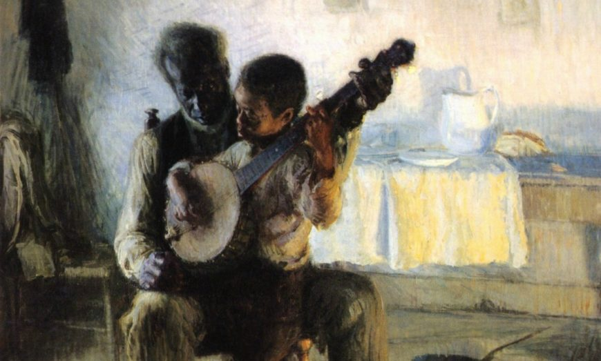 Detail, Henry Ossawa Tanner, The Banjo Lesson, 1893, oil on canvas, 49 × 35.5 inches / 124.5 × 90.2 cm (Hampton University Museum, Hampton, VA)