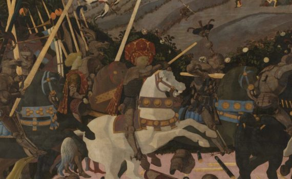 Paolo Uccello, Battle of San Romano, probably c. 1438-40, (National Gallery, London)
