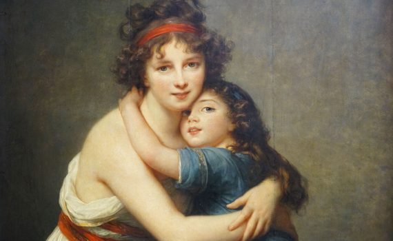 Élisabeth Louise Vigée Le Brun, Self-Portrait with her Daughter, Julie, 1789, oil on canvas, 130 x 94 cm (Musée du Louvre).