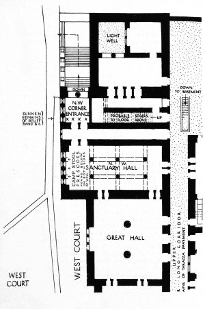 Sir Arthur Evans, Arthur J., upper plan the northwest palace area, Knossos, from The Palace of Minos (London, 1935), page 380 (Universitäts-Bibliothek Heidelberg)