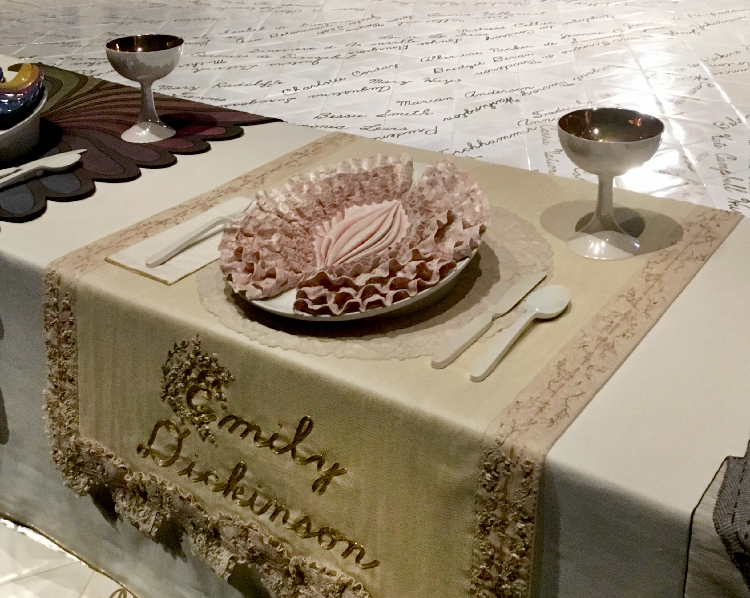 judy chicago dinner party video