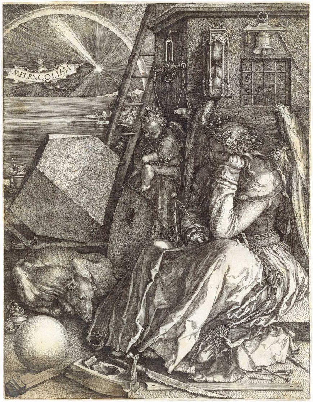Albrecht Dürer, Melencolia I, 1514, engraving,23.81 x 18.57 cm (Mia)