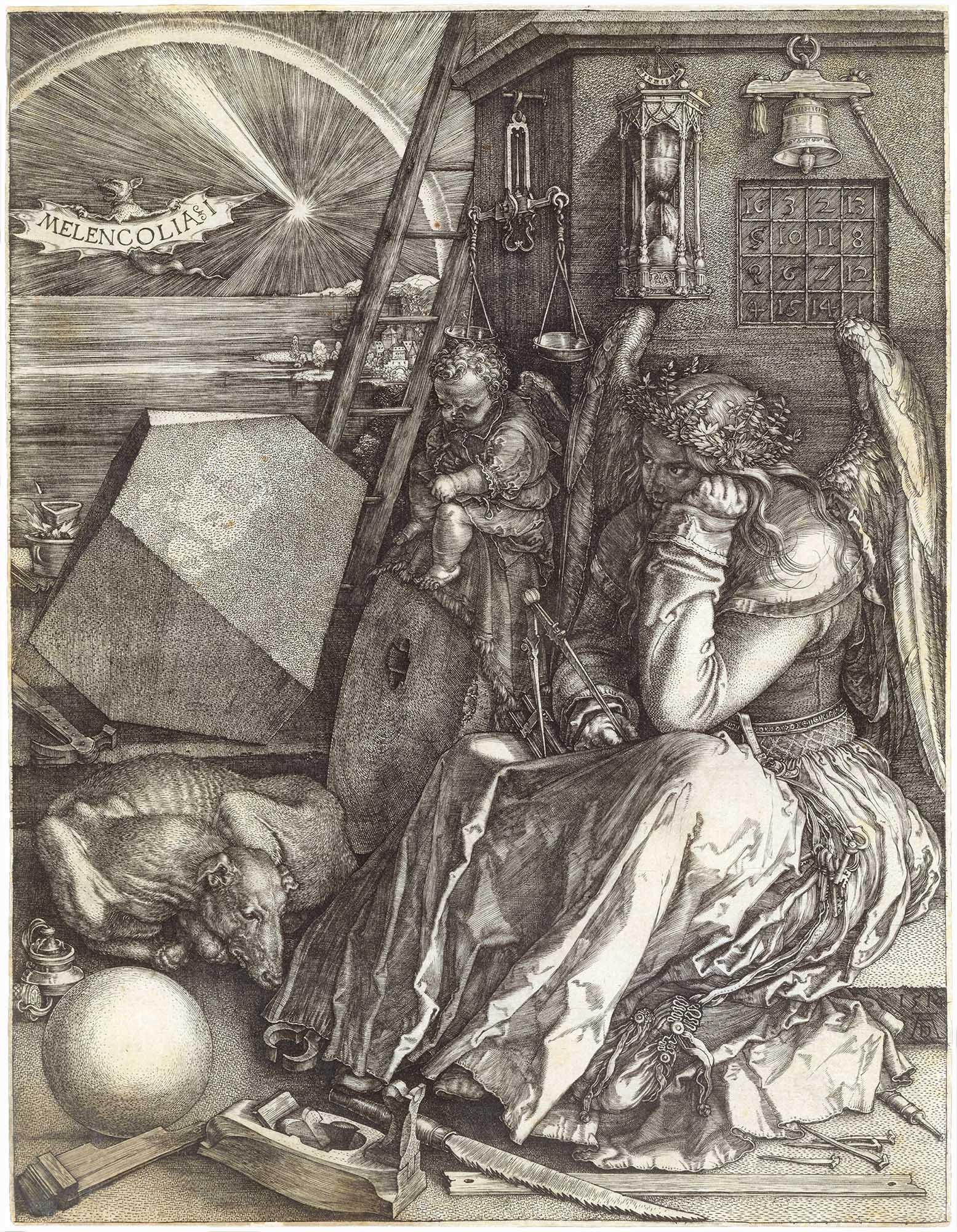 Albrecht Dürer, Melencolia I,1514, engraving, 24 x 18.5 cm (The Metropolitan Museum of Art)
