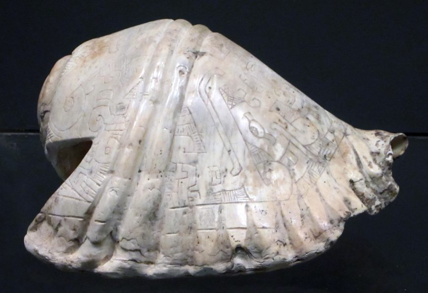 Carved Strombus shell trumpet (pututu), Chavín (photo: Dr. Sarahh Scher)