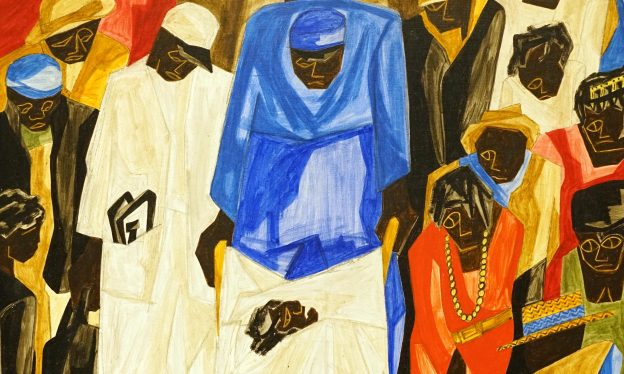 Jacob Lawrence, Ambulance Call, 1948, tempera on board, 61 x 50.8 cm (Crystal Bridges Museum of American Art)