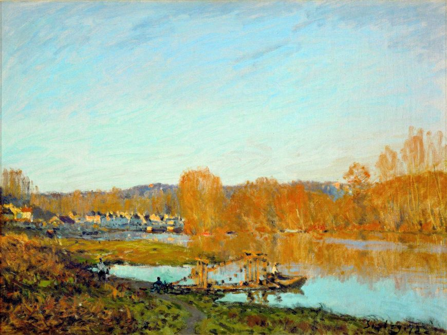 Alfred Sisley, Autumn: Banks of the Seine near Bougival, 1873, oil on canvas, 46.3 x 61.8 cm (The Montreal Museum of Fine Arts)