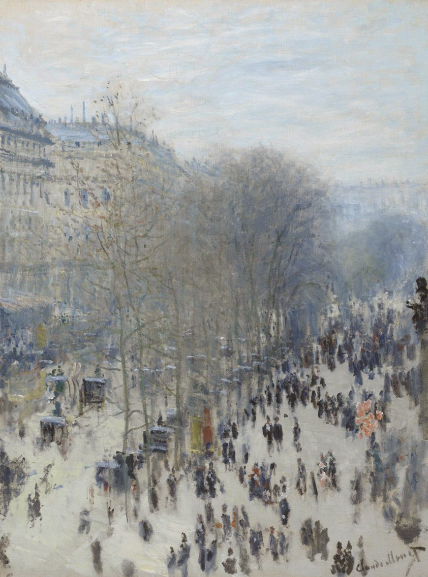 Monet, Boulevard des Capucines, 1873-74, Boulevard des Capucines, oil on canvas, 80.3 x 60.3 cm, Nelson-Atkins Museum of Art, Kansas City