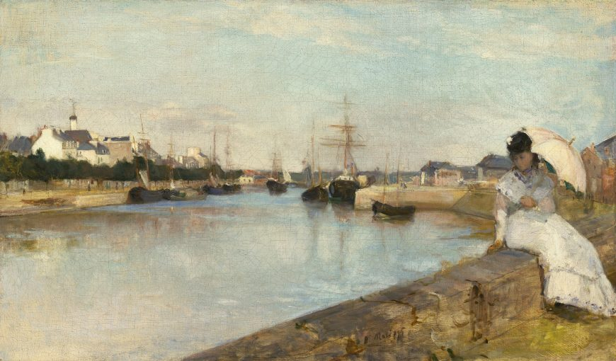 Berthe Morisot, The Harbor at Lorient, 1869, oil on canvas, 43.5 x 73 cm (National Gallery of Art, Washington D.C.)