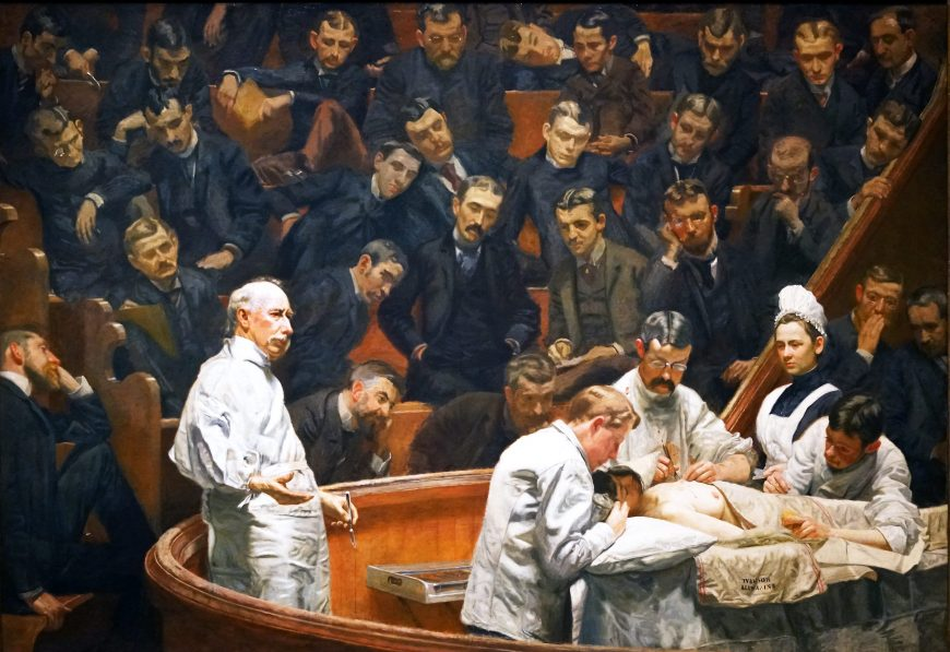 Thomas Eakins, The Agnew Clinic, 1889, oil on canvas, 214 cm × 300 cm (Philadelphia Museum of Art)
