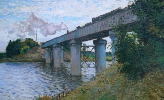 Claude Monet, The Railroad Bridge in Argenteuil (Le pont du chemin de fer à Argenteuil), 1873-74, oil on canvas, 54 x 71 cm (Musée d'Orsay, Paris)
