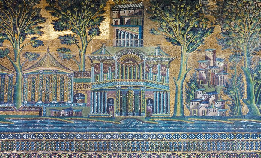 mosaic, Great Mosque of Damascus, photo: american rugbier, CC BY-SA 2.0