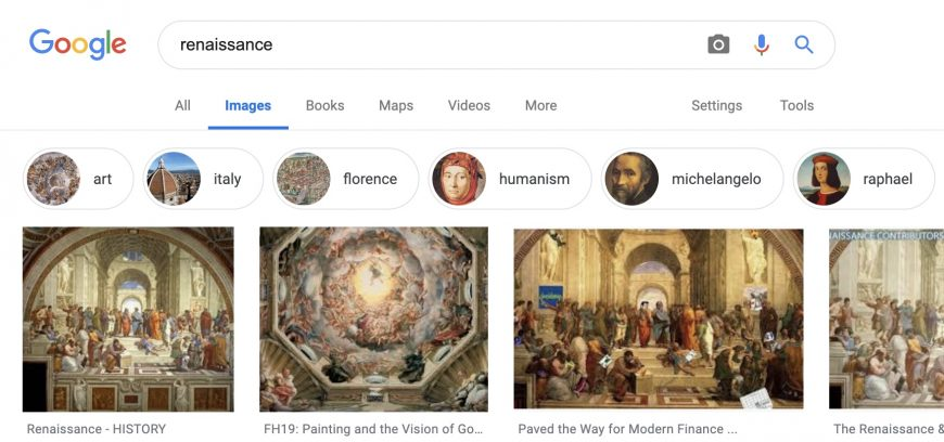 "Google image search results for the term ""Renaissance"""