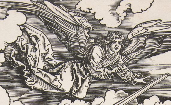 Angel, Albrecht Dürer, The Four Horsemen, from The Apocalypse,1498, woodcut, 38.7 x 27.9 cm (The Metropolitan Museum of Art)