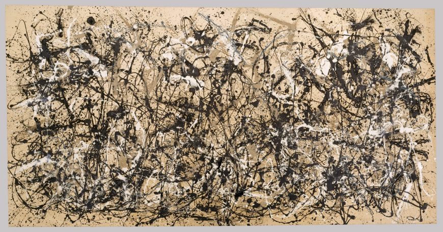 Jackson Pollock, Autumn Rhythm (Number 30), 1950, enamel on canvas, 266.7 x 525.8 cm (The Metropolitan Museum of Art)