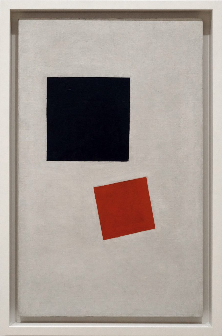 Kazmir Malevich, Painterly Realism of a Boy with a Knapsack - Color Masses in the Fourth Dimension, 1915, oil on canvas, 71.1 x 44.5 cm (The Museum of Modern Art)