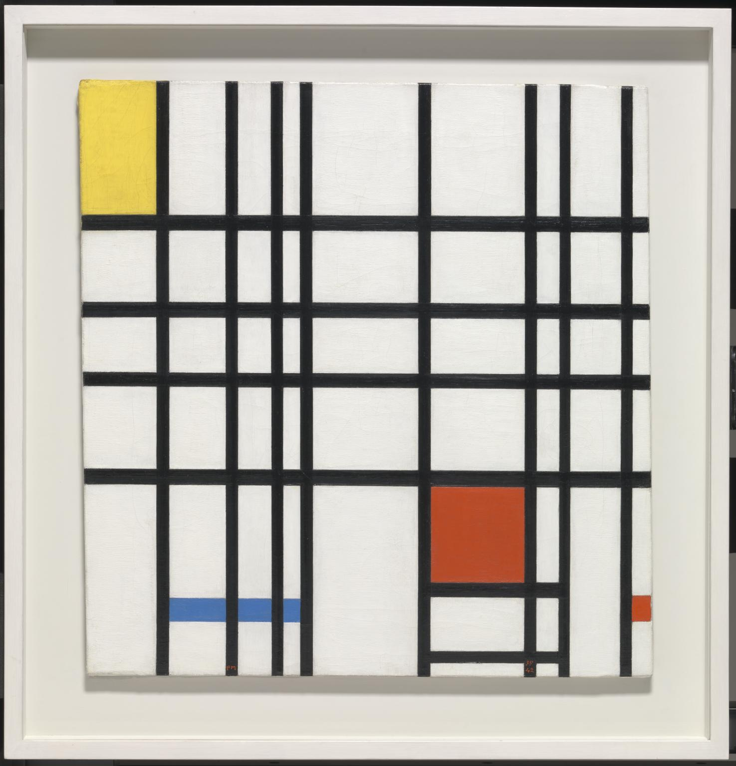Piet Mondrian, Composition with Yellow, Blue and Red, 1937–42, oil on canvas, 72.7 x 69.2 cm (Tate)