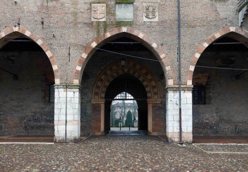 View to the Corte Vecchia,Palazzo Ducale, Mantua