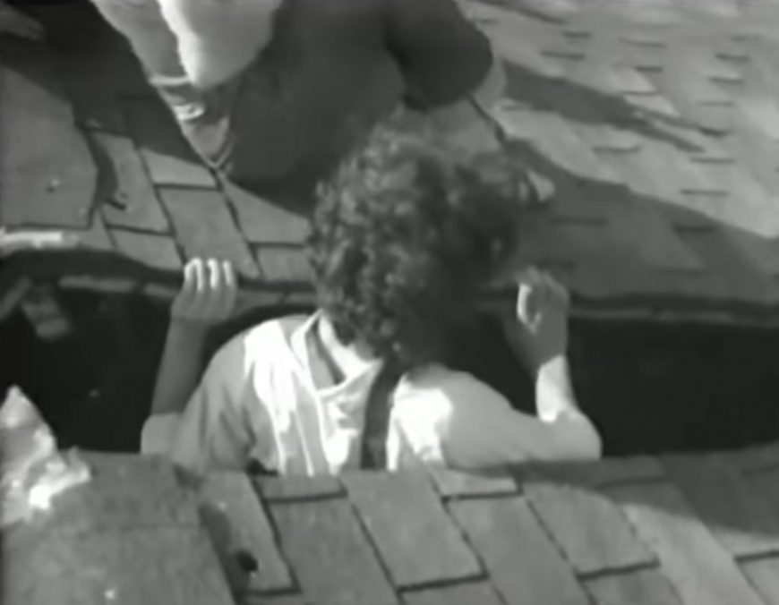 "Still from Field trip to Gordon Matta-Clark's ""Splitting"" house, c. 1974"