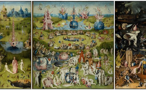 Hieronymus Bosch, The Garden of Earthly Delights, c. 1480-1505, oil on panel, 220 x 390 cm