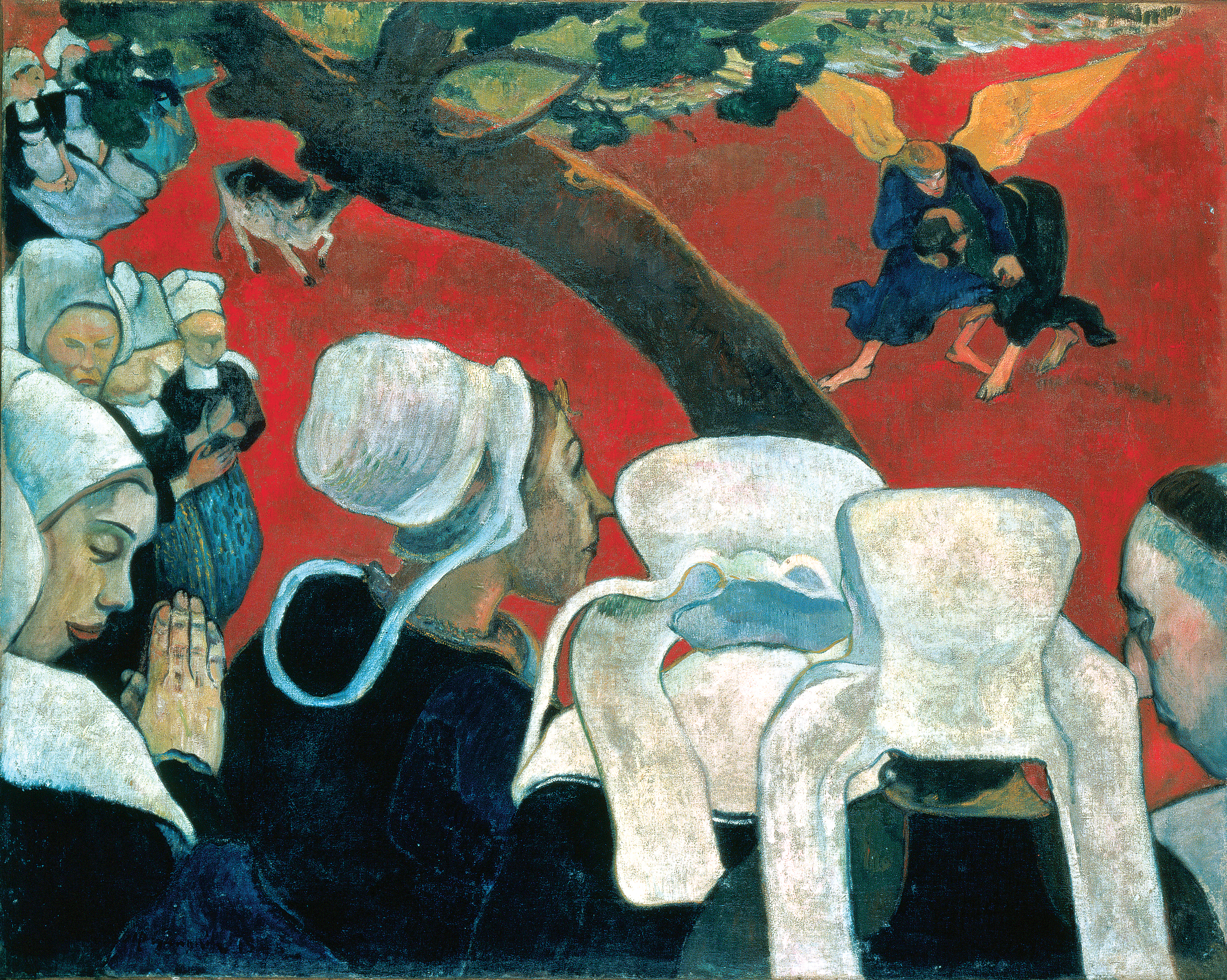 Paul Gauguin, Vision after the Sermon, 1888, oil on canvas, 72.2 x 91 cm (National Galleries of Scotland, Edinburgh)