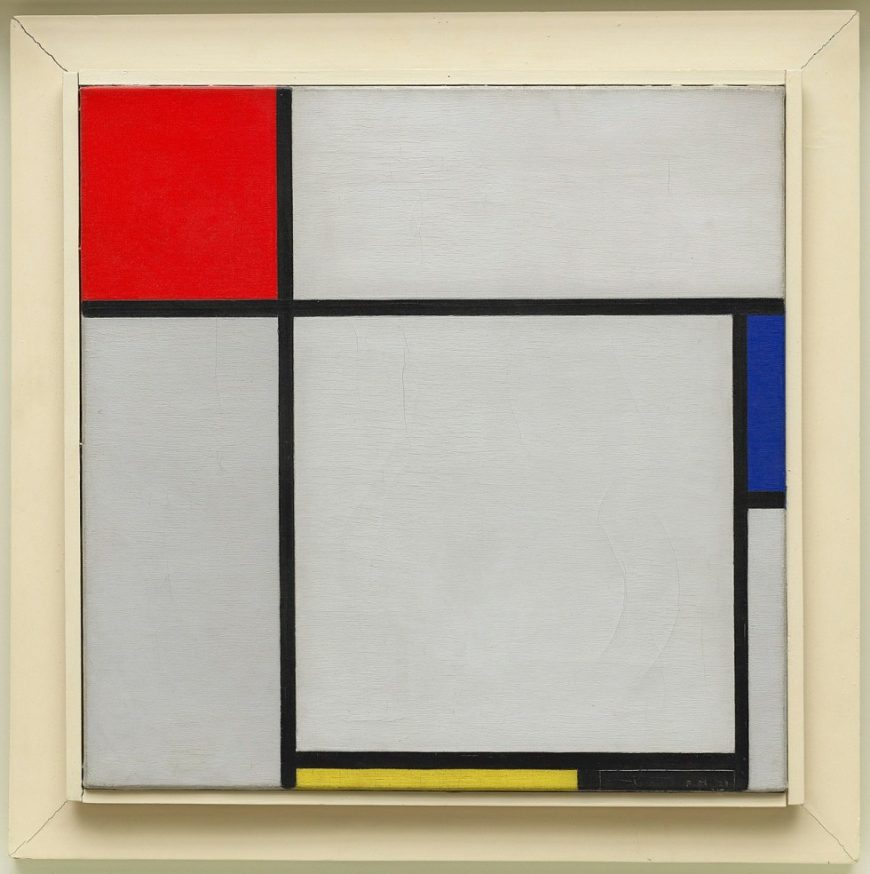 Piet Mondrian, Composition with Red, Blue, Yellow, and Black, 1929, oil on canvas, 45.1 x 45.3 cm (Guggenheim Museum, New York).