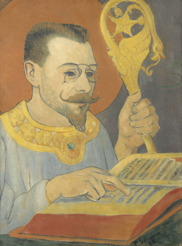 Paul Sérusier, Portrait of Paul Ranson in Nabi costume, 1890, oil on canvas, 61 x 46.5 cm (Musée d'Orsay)