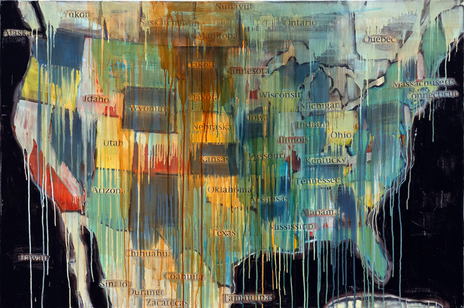 Jaune Quick-To-See Smith, State Names, 2000 (Smithsonian American Art Museum)