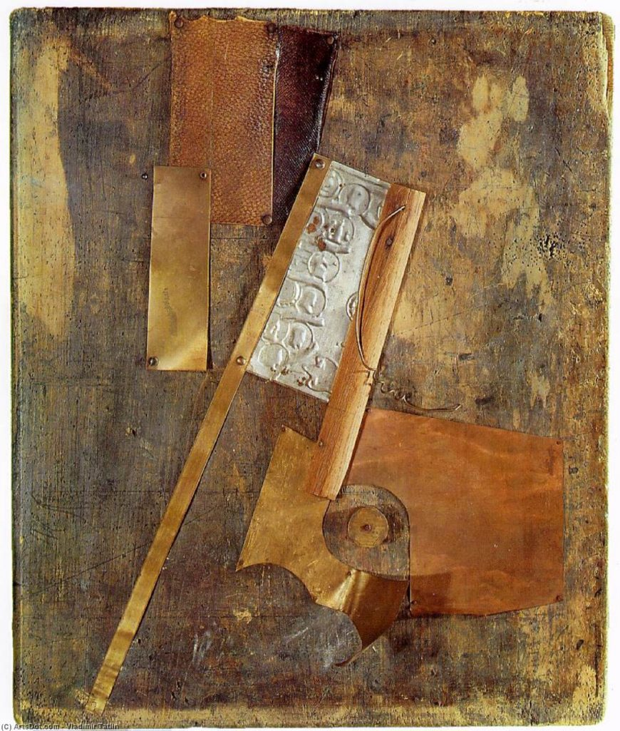 Vladimir Tatlin. Counter-Relief, 1913, wood, metal, leather (The State Tretyakov Gallery)