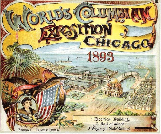 Advertisement for the Chicago World's Columbian Exposition, c. 1893, public domain