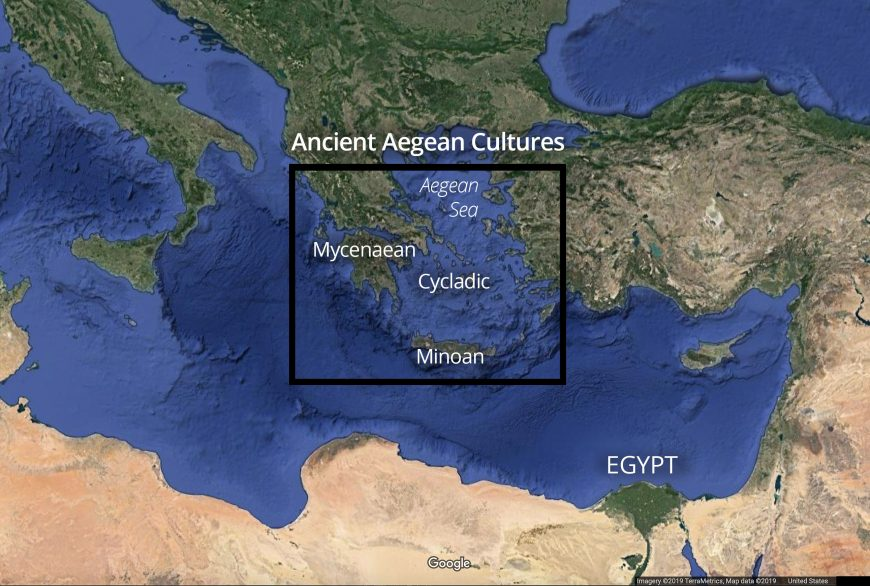 Map with ancient Aegean cultures (© Google)