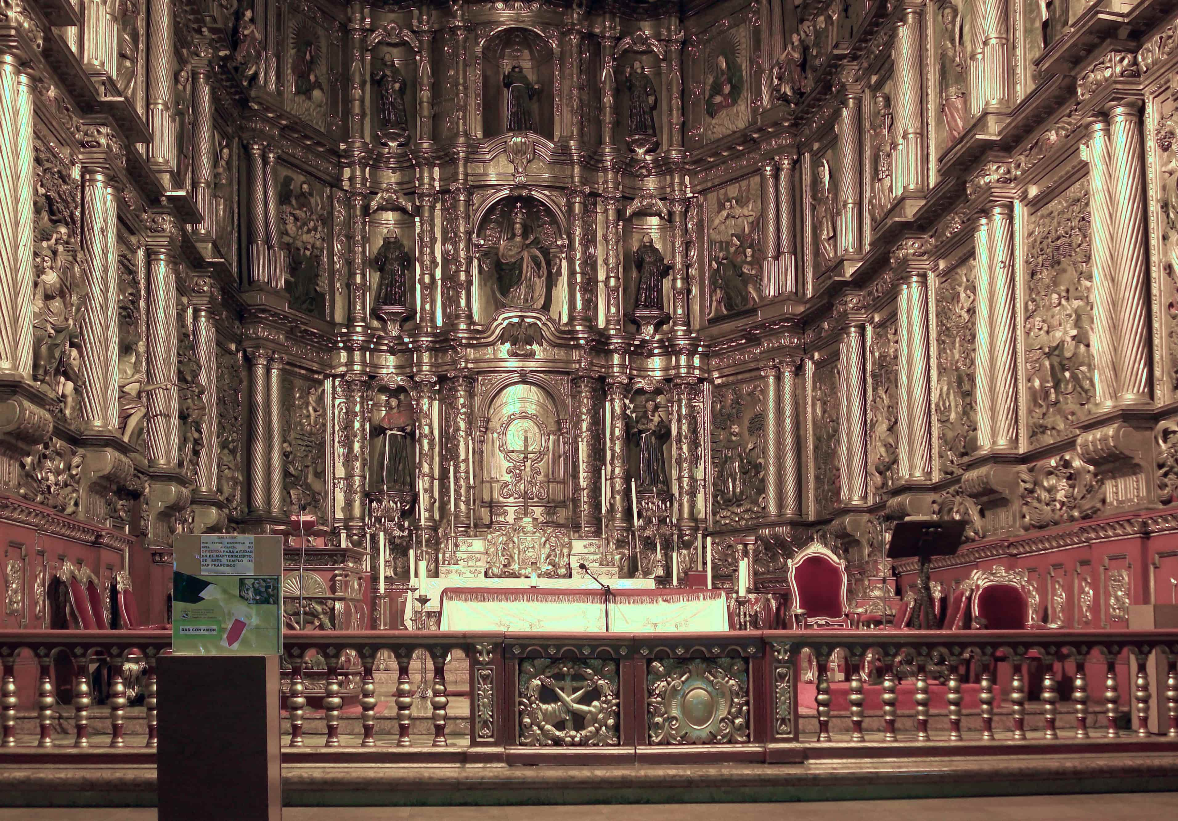 Altarpiece, Church of San Francisco (photo: Felipe Restrepo Acosta, CC BY-SA 3.0)